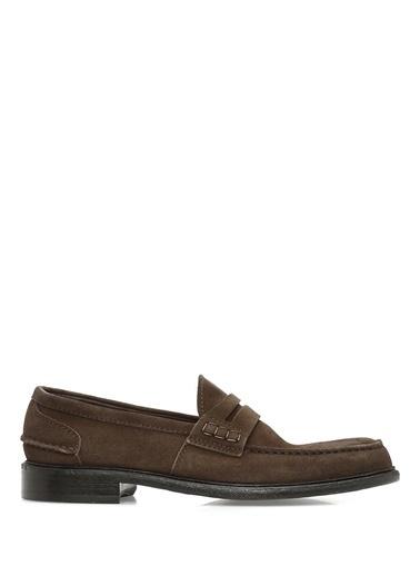 %100 Deri Loafer Ayakkabı-Green George